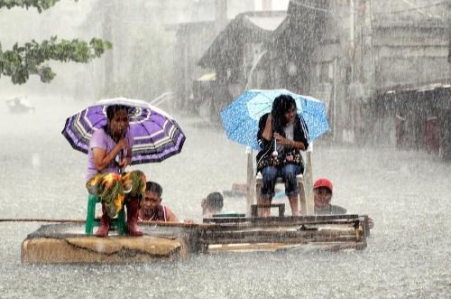 Monsoon Rain Floods Manila