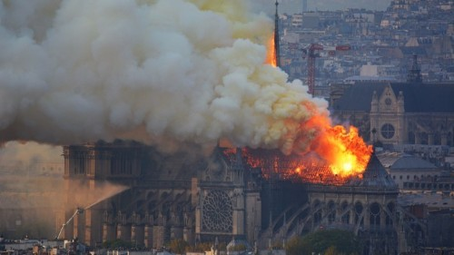 Witnessing the Fall of Notre-Dame