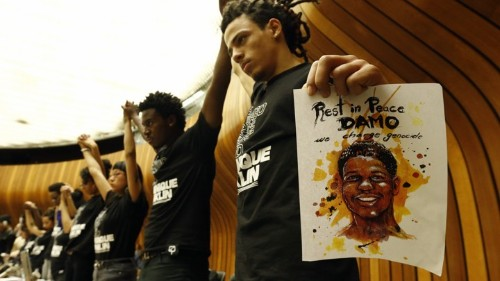 At the United Nations, Chicago Activists Protest Police Brutality