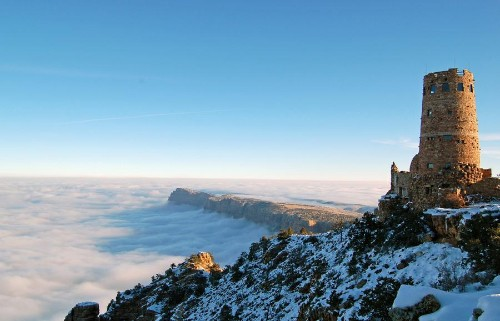 A Sea of Clouds Fills the Grand Canyon
