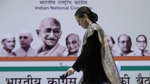 Sonia Gandhi Leaves the Stage