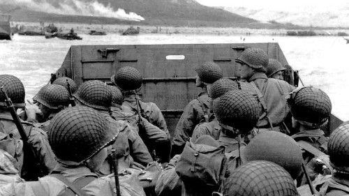 First Wave at Omaha Beach