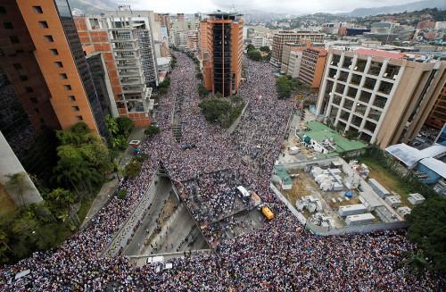 Photos: A Venezuelan Opposition Leader Declares Himself 'Interim President'