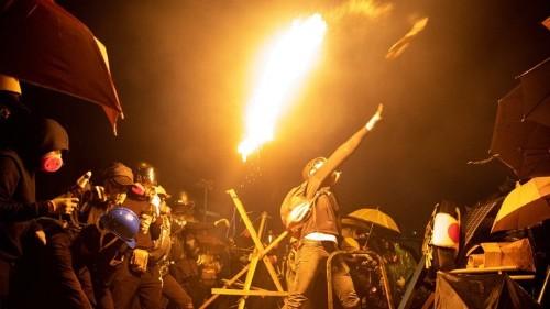 Hong Kong's Protesters Break Their Core Principle