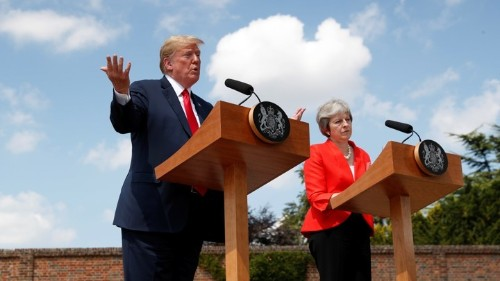 Trump Could Ease the Brexit Crisis. Instead, He's Making It Worse.