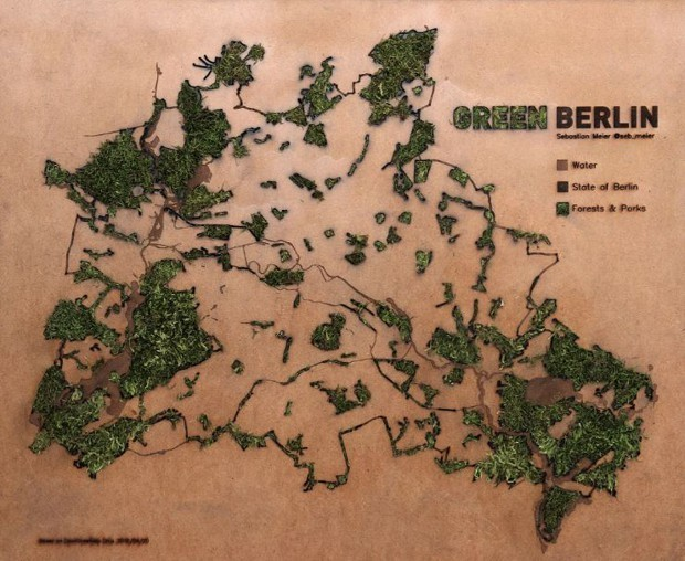 A Data Visualizer Created a Mossy Map of Berlin's Green Spaces