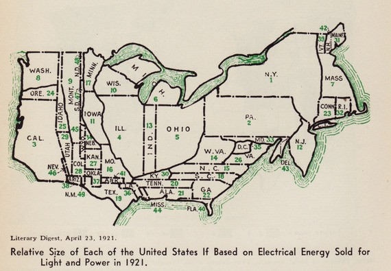 A Map of American Electricity Use in 1921