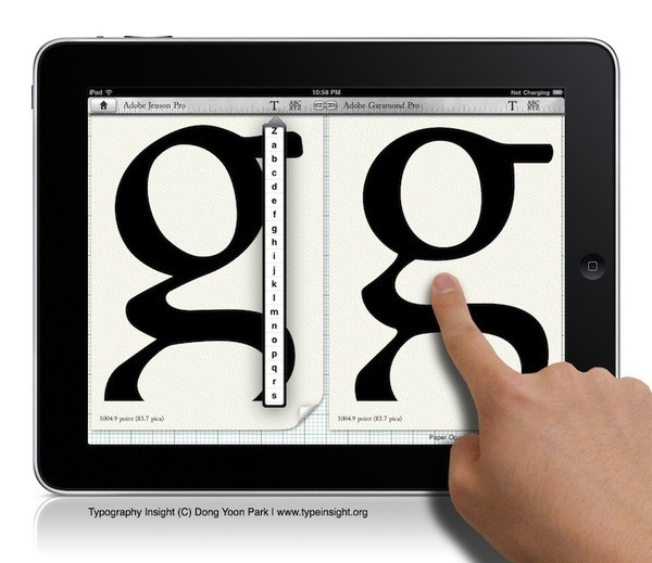 Typography Insight: iPad App Teaches Fonts Like Never Before