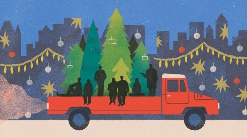A Harebrained Scheme to Sell Christmas Trees on the Streets of New York