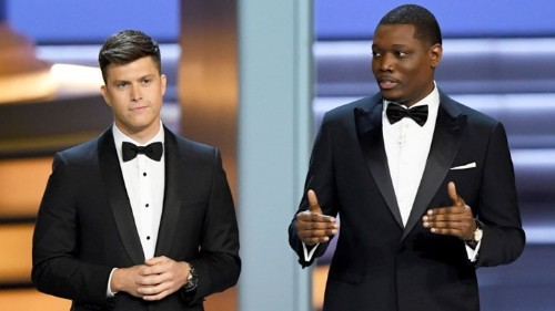 Colin Jost and Michael Che's Lackluster Emmys Monologue