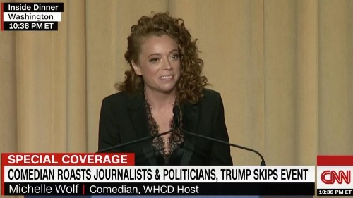 WHCA dinner host Michelle Wolf hits Sarah Sanders with vile, hateful jokes. It did not go over well.