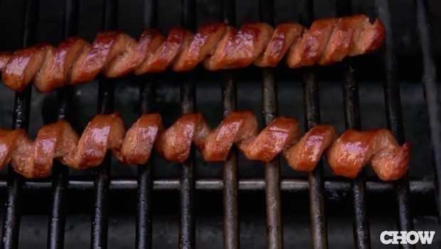 Barbecue tip: Spiral-cut those hot dogs before you put them on the grill