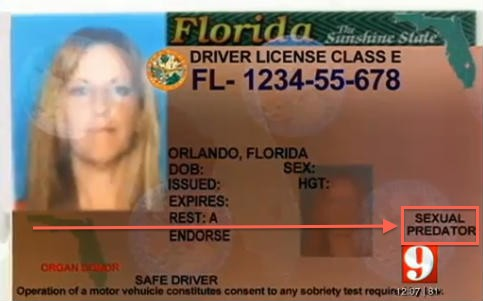 Mistake on Florida Woman's Driver License Is One of the Worst Imaginable