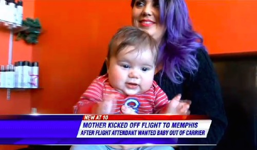 Mom's Words to Flight Attendant Asking Her to Remove Baby From Carrier Allegedly Got Her Kicked Off the Flight