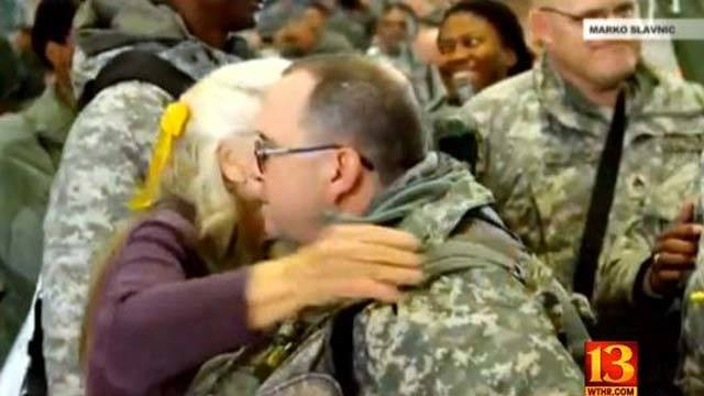 Texas Woman Has Given 500,000 Hugs to Soldiers. See What Happens When She Ends Up in the Hospital With Cancer.