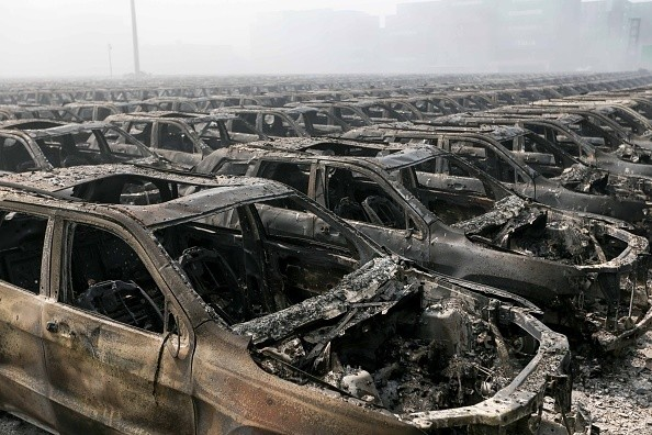 10 Stunning Photos Capture the Apocalyptic Scene in Tianjin, China, Morning After Massive Explosion That Killed at Least 50