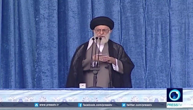 Can You Spot What Iran's Khamenei Was Holding During His Speech on the Nuclear Deal? The Mainstream Media Ignored It