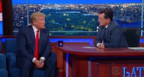 When Stephen Colbert Asked if Donald Trump Thinks Obama Was Born in America, This Is How He Replied
