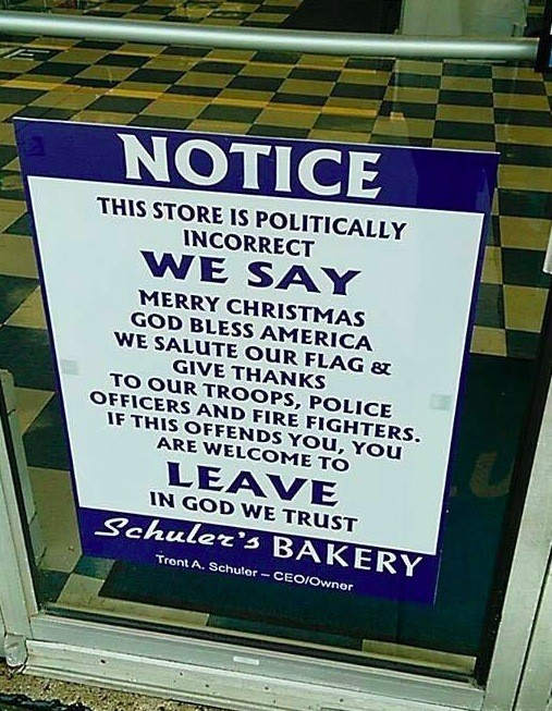 After Ohio Bakery's 'Politically Incorrect' Front-Door Sign Goes Viral, Staffers Describe How Customers Have Reacted
