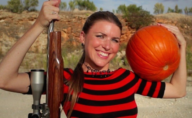 Yes, You Can 'Carve' a Halloween Pumpkin with a Gun! (Well, a Sharpshooter Can)
