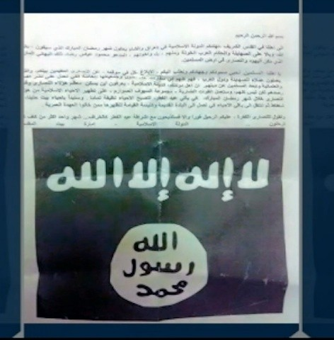 A Chilling Message Was Sent to Christians from the 'Islamic State in Palestine'