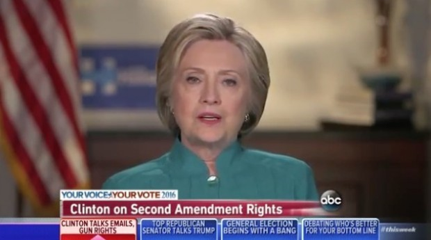 Here's How Clinton Answered When Asked if the Right to Bear Arms Is a Constitutional Right