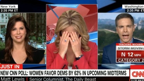 CNN anchor has a bizarre reaction to liberal protesters being called the 'm-word'