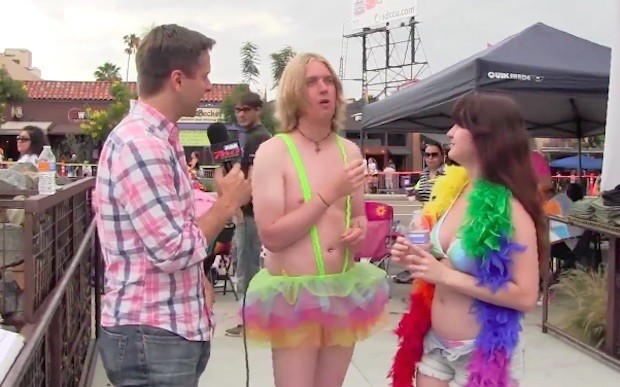 Watch the Astonishment on Gay Pride Event Attendees' Faces When They Learn Which 'Bigot' Uttered These Anti-Gay Marriage Quotes