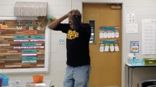 School's deaf custodian gets moving surprise from students for his birthday