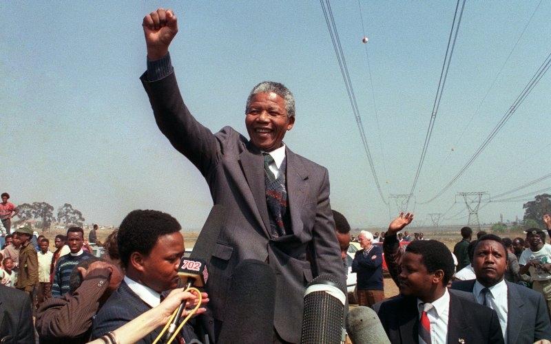Nelson Mandela: The True Leader - Magazine cover