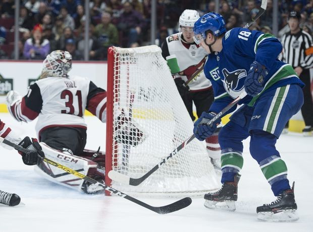 Jake Virtanen's second-period goal helps lift Canucks past Coyotes 3-1