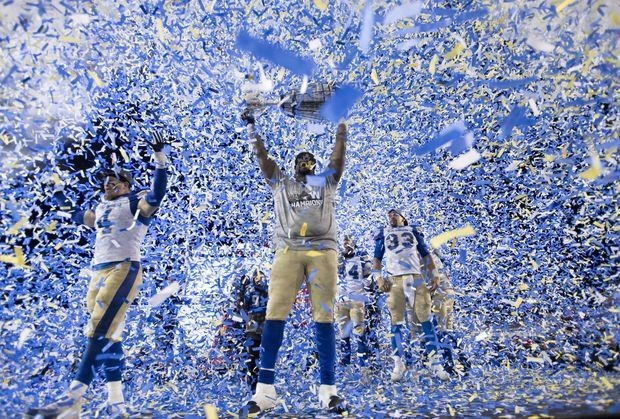 Blue Bombers crush Tiger-Cats to win first Grey Cup title in nearly 30 years