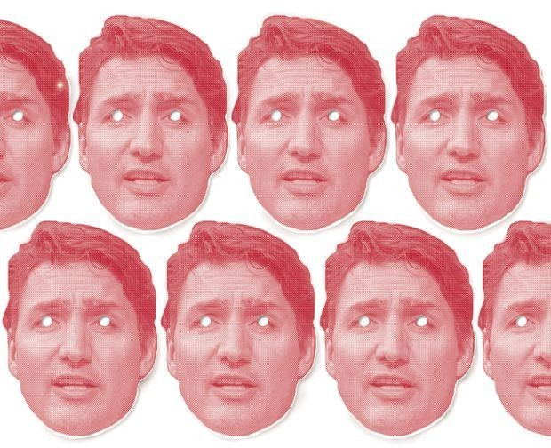 The many masks of Justin Trudeau