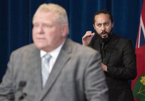 Sign-language interpreter takes on Premier Ford's 'angry dad' approach as he pushes for accessibility