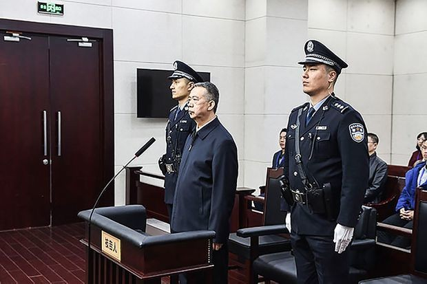 China sentences former Interpol president to 13 ½ years in prison for accepting bribes