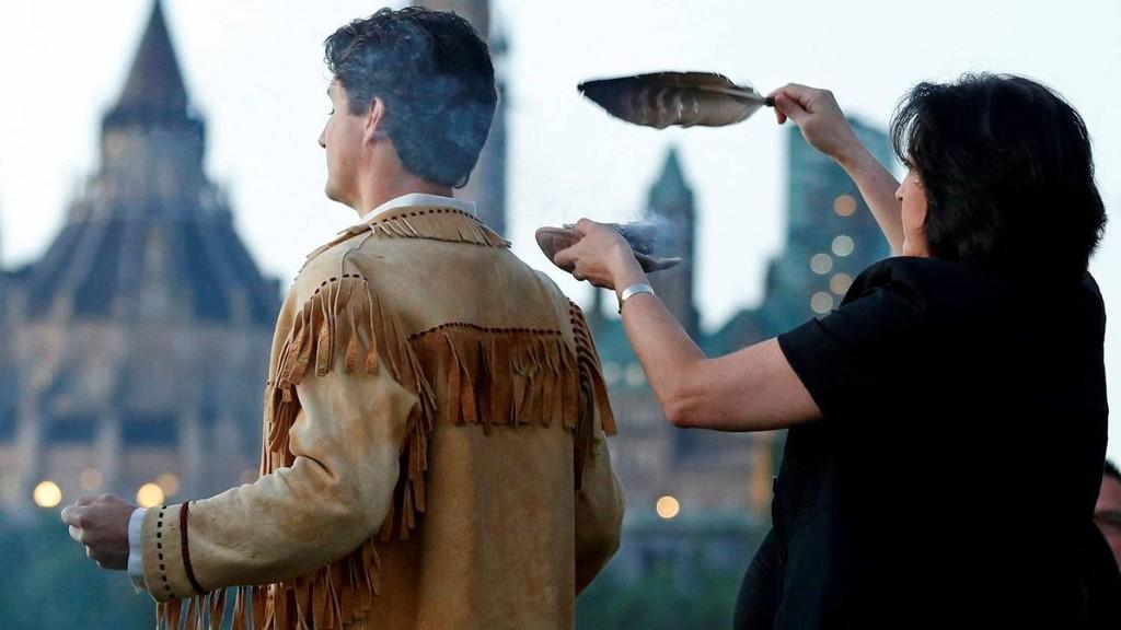 PM observes Aboriginal Day sunrise ceremony wearing father's buckskin