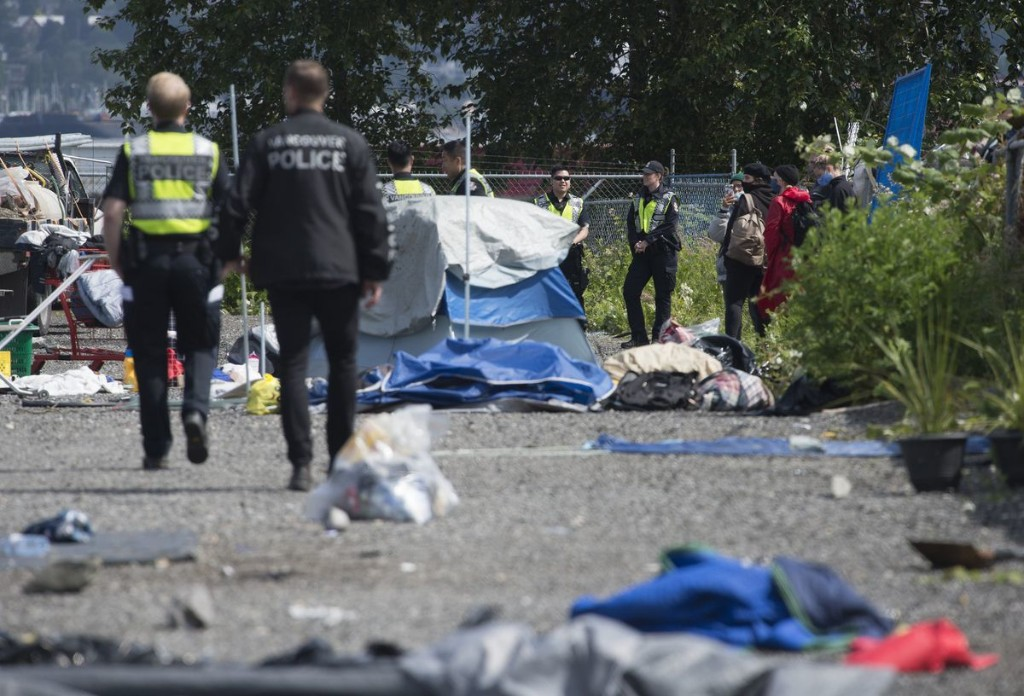 Dozens of arrests made as Vancouver police enforce injunction against homeless camp