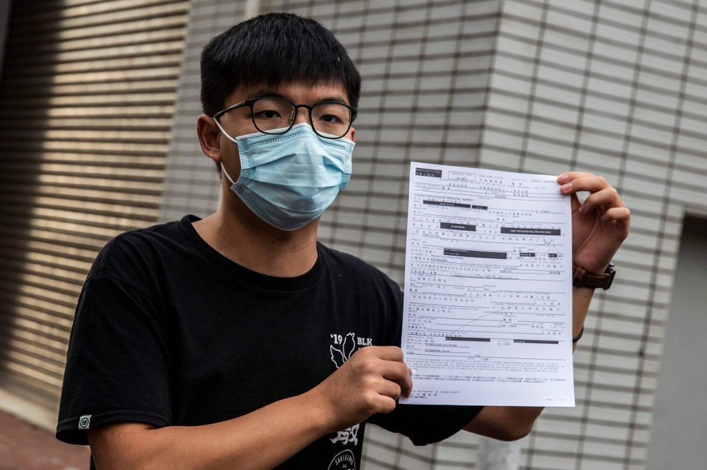Joshua Wong, democracy icon in Hong Kong, arrested for unauthorized assembly