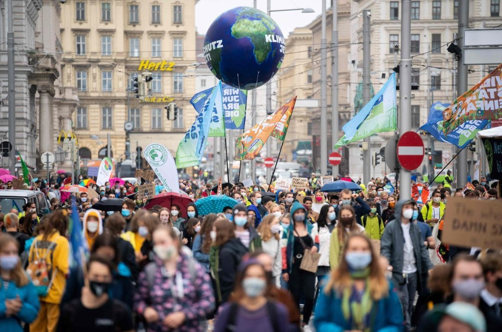 In photos: Young activists take part in world-wide protests demanding immediate climate action