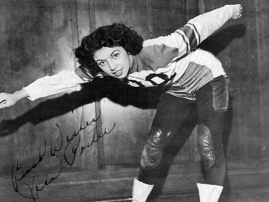 Roller derby star Jean Porter was known for her speed and beauty
