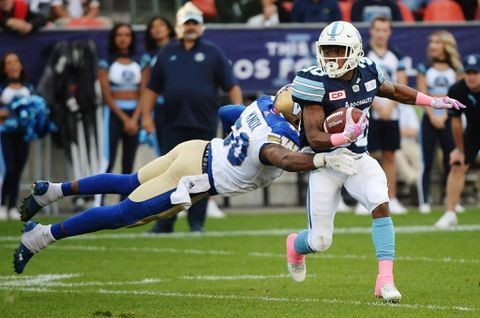 Toronto Argonauts eke past Winnipeg Blue Bombers on Fajardo's late touchdown run