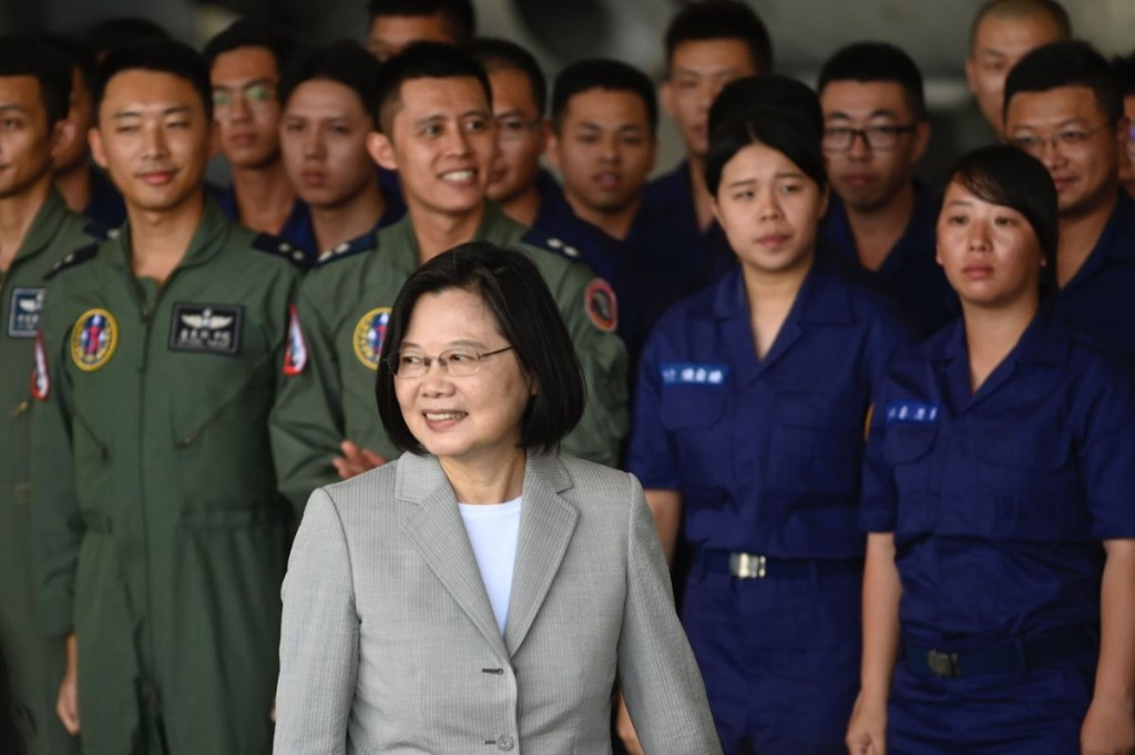 Taiwanese President Tsai Ing-wen visits military base after recent show of force by China