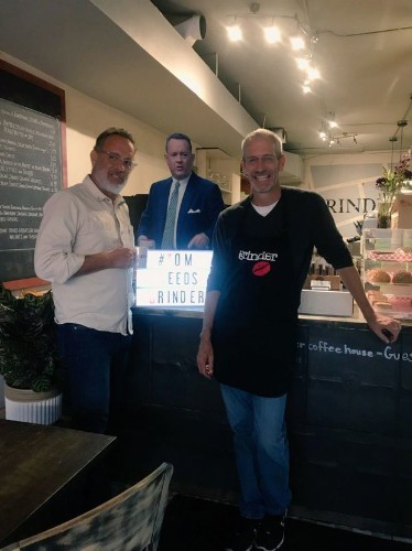 Tom Hanks visits coffee shop after second successful campaign to lure TIFF stars