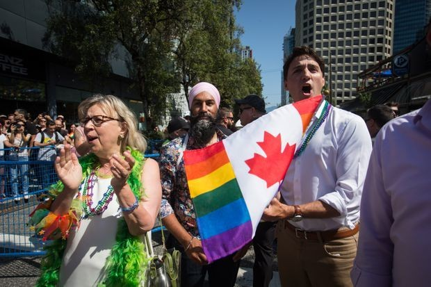 Trudeau, Singh, May march together at Vancouver Pride Parade; Scheer again skips event
