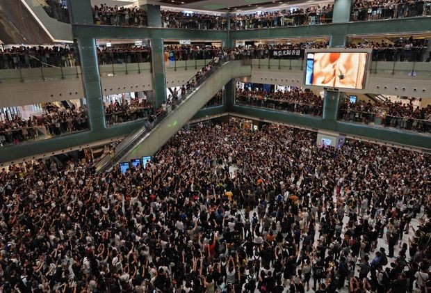 Hong Kong protesters belt out karaoke in shopping malls as latest act of resistance