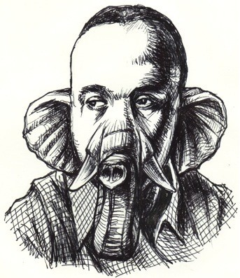 Timothy Leo Taranto's illustrated author pun of Ralph Ellison