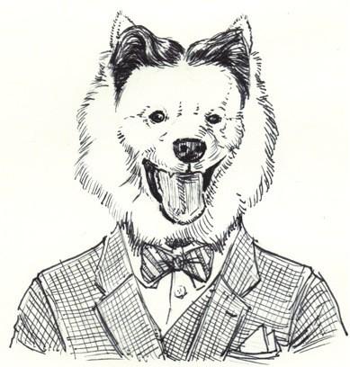 Timothy Leo Taranto's illustrated author pun of F. Scott Fitzgerald