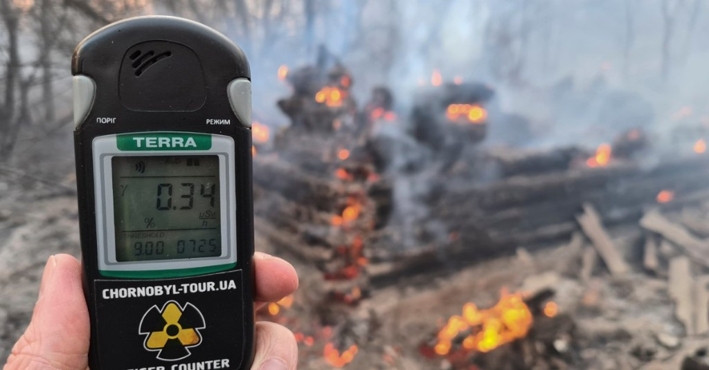 Ukraine Battles Forest Fires Near Chernobyl Nuclear Plant