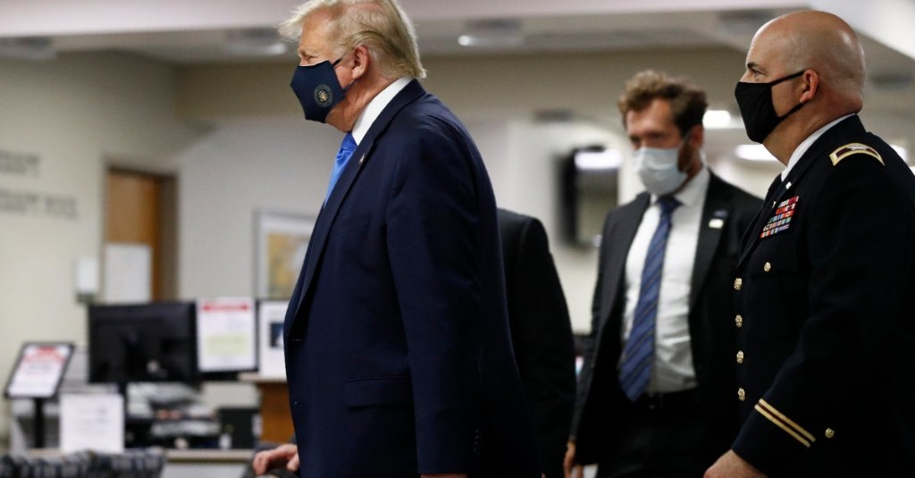 President Trump Wears Face Mask in Public for First Time During Pandemic
