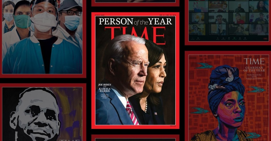 JOE BIDEN AND KAMALA HARRIS: TIME PERSON OF THE YEAR 2020 - cover